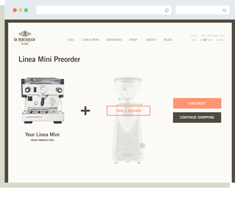 Linea Mini Launch Preorder Page