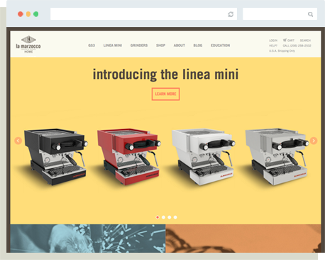 Linea Mini Launch Home Page