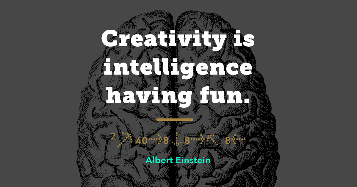 Albert Einstein Famous Quote Branding