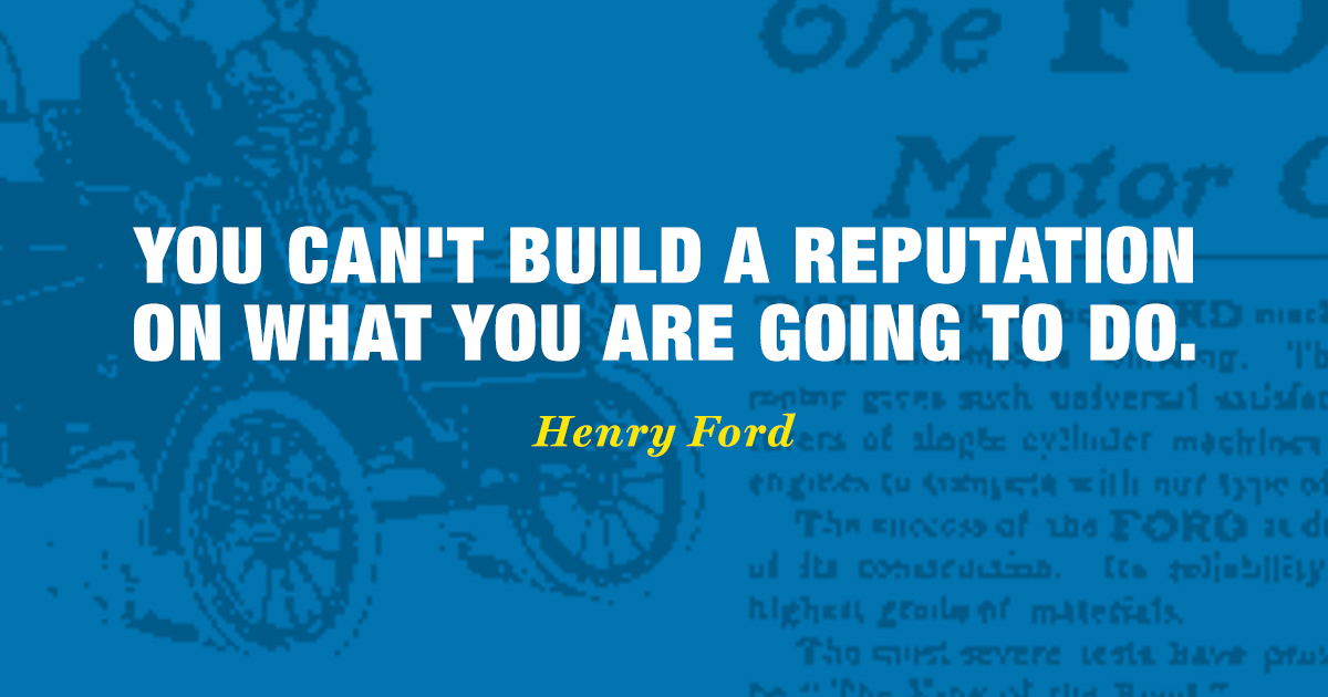 Henry Ford Famous Quote Branding