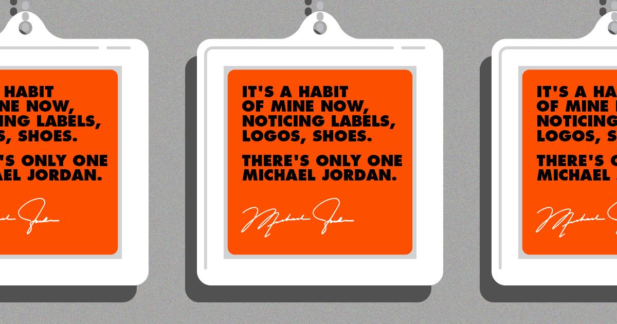 Michael Jordan Famous Quote Branding
