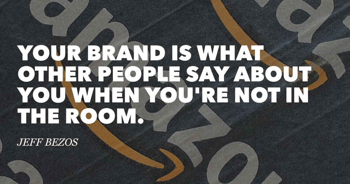 Jeff Bezos famous branding quote - definitions of brand