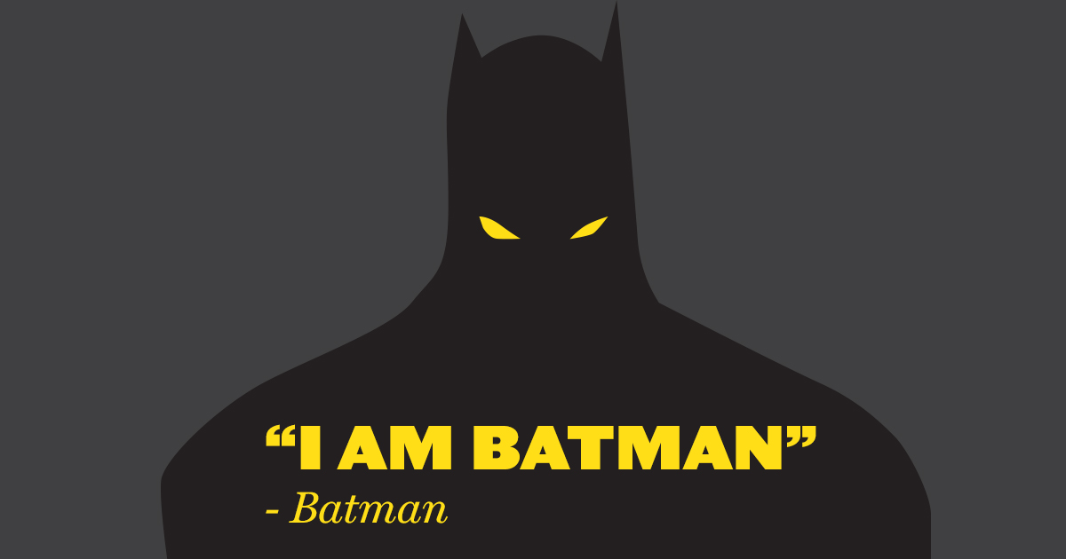 Batman Famous Quote Branding